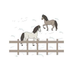 Icone champ chevaux